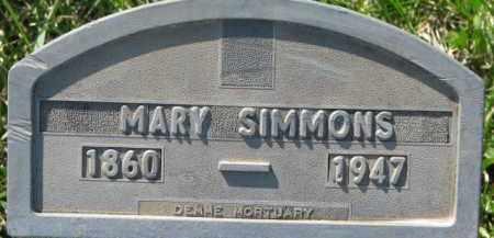 SIMMONS, MARY - Dakota County, Nebraska | MARY SIMMONS - Nebraska Gravestone Photos