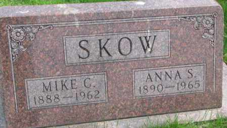 SKOW, ANNA S. - Dakota County, Nebraska   ANNA S. SKOW - Nebraska Gravestone Photos