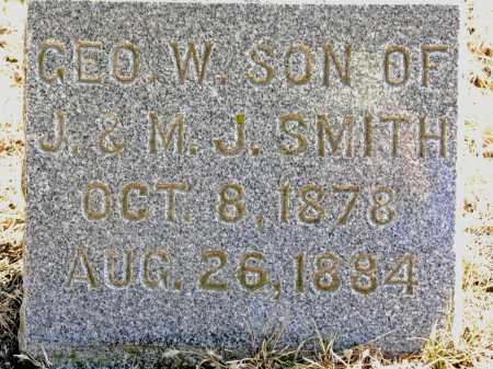 SMITH, GEORGE W. - Dakota County, Nebraska | GEORGE W. SMITH - Nebraska Gravestone Photos