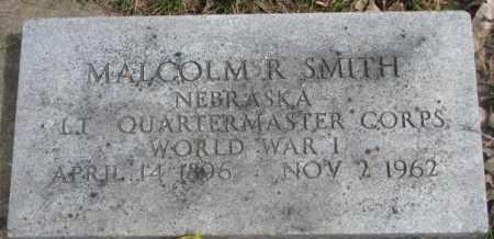 SMITH, MALCOM R. (WW I) - Dakota County, Nebraska | MALCOM R. (WW I) SMITH - Nebraska Gravestone Photos