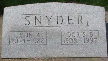 SNYDER, JOHN A. - Dakota County, Nebraska | JOHN A. SNYDER - Nebraska Gravestone Photos