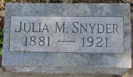 SNYDER, JULIA M. - Dakota County, Nebraska | JULIA M. SNYDER - Nebraska Gravestone Photos