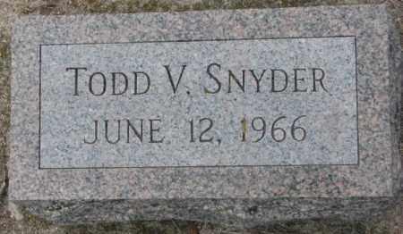 SNYDER, TODD V. - Dakota County, Nebraska | TODD V. SNYDER - Nebraska Gravestone Photos