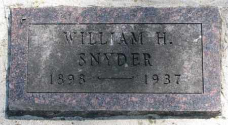 SNYDER, WILLIAM H. - Dakota County, Nebraska | WILLIAM H. SNYDER - Nebraska Gravestone Photos