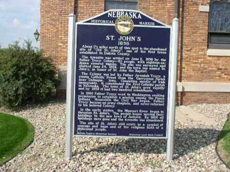 *ST. JOHN'S CHURCH, HISTORY - Dakota County, Nebraska | HISTORY *ST. JOHN'S CHURCH - Nebraska Gravestone Photos