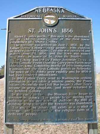*ST. JOHNS, OVERVIEW-HISTORY - Dakota County, Nebraska   OVERVIEW-HISTORY *ST. JOHNS - Nebraska Gravestone Photos
