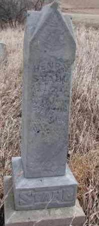 STAHL, HENRY - Dakota County, Nebraska   HENRY STAHL - Nebraska Gravestone Photos