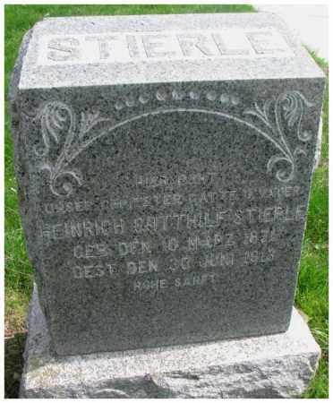 STIERLE, HEINRICH GOTTHILF - Dakota County, Nebraska | HEINRICH GOTTHILF STIERLE - Nebraska Gravestone Photos