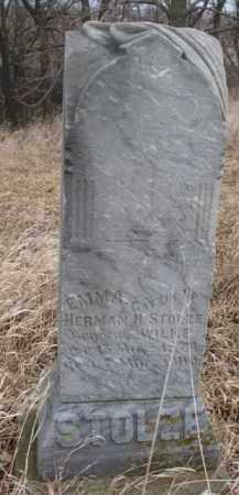 WILKE STOLZE, EMMA - Dakota County, Nebraska | EMMA WILKE STOLZE - Nebraska Gravestone Photos