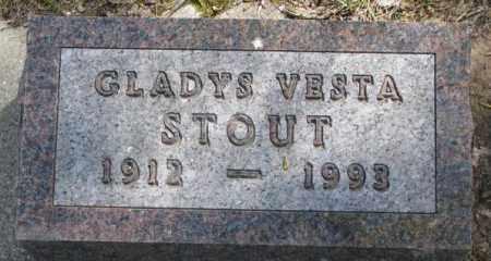 STOUT, GLADYS VESTA - Dakota County, Nebraska | GLADYS VESTA STOUT - Nebraska Gravestone Photos