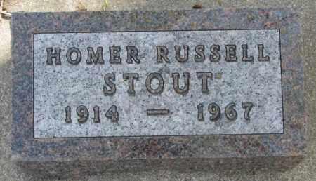 STOUT, HOMER RUSSELL - Dakota County, Nebraska   HOMER RUSSELL STOUT - Nebraska Gravestone Photos