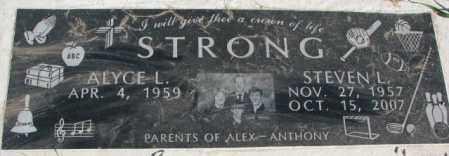 STRONG, ALYCE L. - Dakota County, Nebraska | ALYCE L. STRONG - Nebraska Gravestone Photos