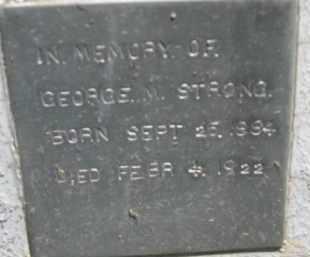 STRONG, GEORGE M. - Dakota County, Nebraska | GEORGE M. STRONG - Nebraska Gravestone Photos
