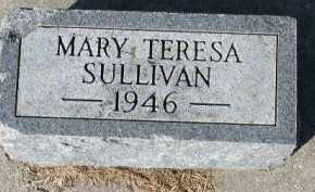 SULLIVAN, MARY TERESA - Dakota County, Nebraska | MARY TERESA SULLIVAN - Nebraska Gravestone Photos