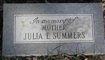 SUMMERS, JULIA E. - Dakota County, Nebraska | JULIA E. SUMMERS - Nebraska Gravestone Photos