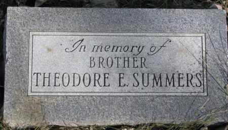 SUMMERS, THEODORE E. - Dakota County, Nebraska   THEODORE E. SUMMERS - Nebraska Gravestone Photos