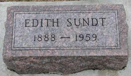 SUNDT, EDITH - Dakota County, Nebraska   EDITH SUNDT - Nebraska Gravestone Photos