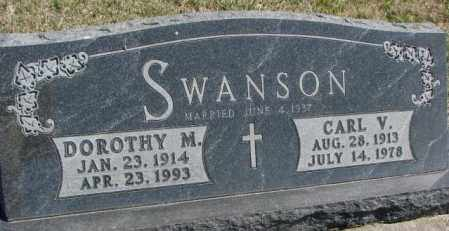 SWANSON, CARL V. - Dakota County, Nebraska | CARL V. SWANSON - Nebraska Gravestone Photos