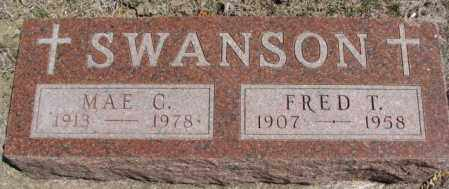 SWANSON, FRED T. - Dakota County, Nebraska | FRED T. SWANSON - Nebraska Gravestone Photos