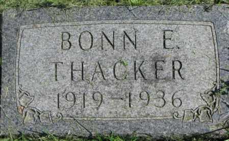 THACKER, BONN E. - Dakota County, Nebraska | BONN E. THACKER - Nebraska Gravestone Photos