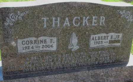 THACKER, CORRINE F. - Dakota County, Nebraska | CORRINE F. THACKER - Nebraska Gravestone Photos