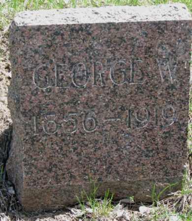 THACKER, GEORGE W. - Dakota County, Nebraska | GEORGE W. THACKER - Nebraska Gravestone Photos