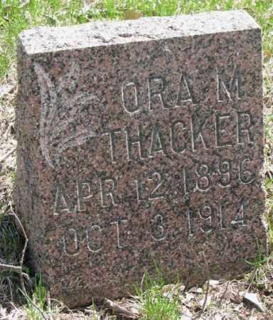 THACKER, ORA M. - Dakota County, Nebraska | ORA M. THACKER - Nebraska Gravestone Photos