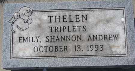THELEN, EMILY - Dakota County, Nebraska | EMILY THELEN - Nebraska Gravestone Photos