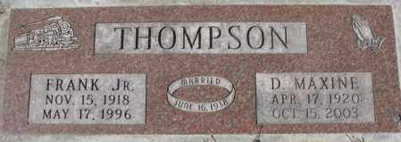 THOMPSON, D. MAXINE - Dakota County, Nebraska | D. MAXINE THOMPSON - Nebraska Gravestone Photos