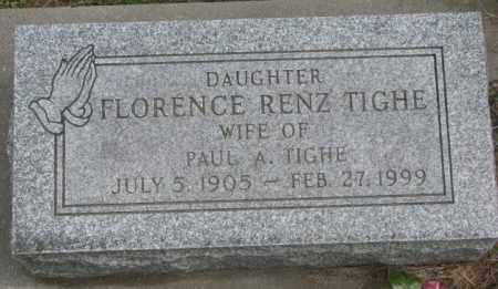 RENZ TIGHE, FLORENCE - Dakota County, Nebraska | FLORENCE RENZ TIGHE - Nebraska Gravestone Photos