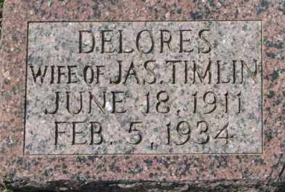 TIMLIN, DELORES - Dakota County, Nebraska   DELORES TIMLIN - Nebraska Gravestone Photos