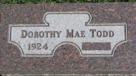 TODD, DOROTHY MAE - Dakota County, Nebraska | DOROTHY MAE TODD - Nebraska Gravestone Photos