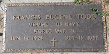 TODD, FRANCIS EUGENE (WW II MARKER) - Dakota County, Nebraska | FRANCIS EUGENE (WW II MARKER) TODD - Nebraska Gravestone Photos