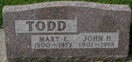 TODD, MARY E. - Dakota County, Nebraska | MARY E. TODD - Nebraska Gravestone Photos