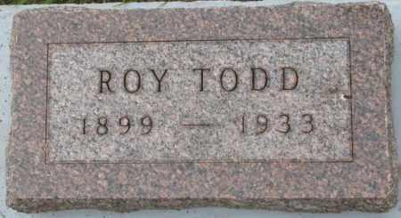 TODD, ROY - Dakota County, Nebraska | ROY TODD - Nebraska Gravestone Photos