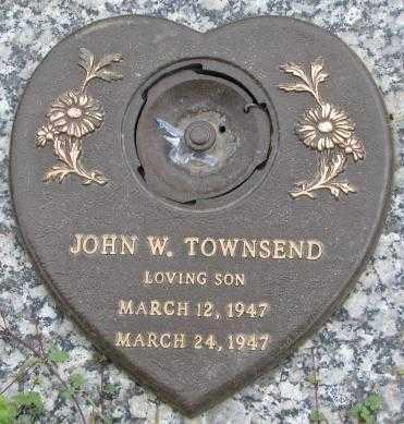 TOWNSEND, JOHN W. - Dakota County, Nebraska   JOHN W. TOWNSEND - Nebraska Gravestone Photos