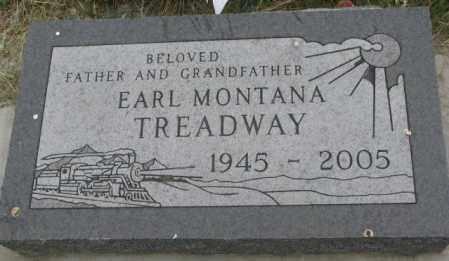 TREADWAY, EARL MONTANA - Dakota County, Nebraska | EARL MONTANA TREADWAY - Nebraska Gravestone Photos