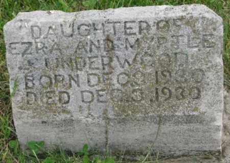 UNDERWOOD, DAUGHTER - Dakota County, Nebraska | DAUGHTER UNDERWOOD - Nebraska Gravestone Photos