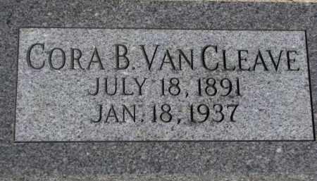 VAN CLEAVE, CORA B. - Dakota County, Nebraska   CORA B. VAN CLEAVE - Nebraska Gravestone Photos