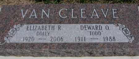 "VAN CLEAVE, DEWARD O. ""TODD"" - Dakota County, Nebraska | DEWARD O. ""TODD"" VAN CLEAVE - Nebraska Gravestone Photos"