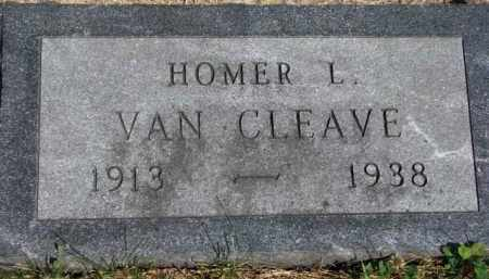 VAN CLEAVE, HOMER L. - Dakota County, Nebraska | HOMER L. VAN CLEAVE - Nebraska Gravestone Photos