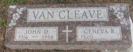 VAN CLEAVE, JOHN D. - Dakota County, Nebraska | JOHN D. VAN CLEAVE - Nebraska Gravestone Photos