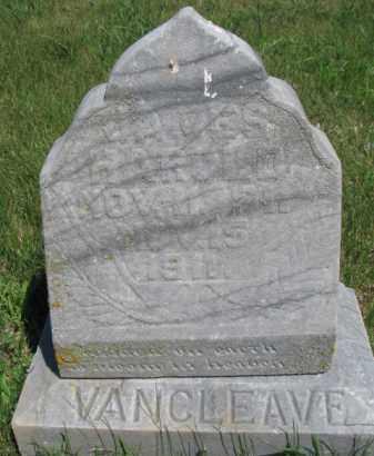 VAN CLEAVE, JAMES HAROLD - Dakota County, Nebraska   JAMES HAROLD VAN CLEAVE - Nebraska Gravestone Photos