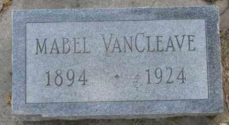 VAN CLEAVE, MABEL - Dakota County, Nebraska   MABEL VAN CLEAVE - Nebraska Gravestone Photos