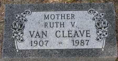 VAN CLEAVE, RUTH V. - Dakota County, Nebraska | RUTH V. VAN CLEAVE - Nebraska Gravestone Photos