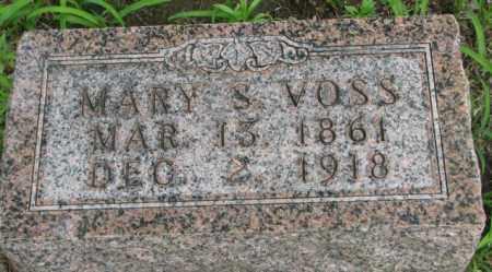 VOSS, MARY S. - Dakota County, Nebraska | MARY S. VOSS - Nebraska Gravestone Photos