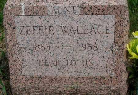 WALLACE, ZEFFIE - Dakota County, Nebraska | ZEFFIE WALLACE - Nebraska Gravestone Photos