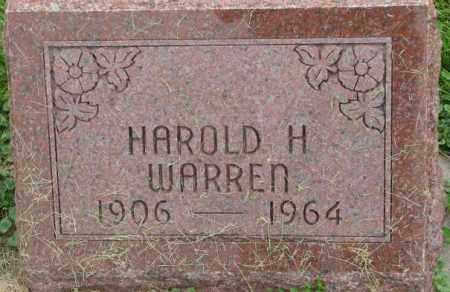 WARREN, HAROLD H. - Dakota County, Nebraska   HAROLD H. WARREN - Nebraska Gravestone Photos