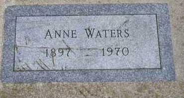 WATERS, ANNE - Dakota County, Nebraska | ANNE WATERS - Nebraska Gravestone Photos