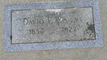 WATERS, DAVID F. - Dakota County, Nebraska   DAVID F. WATERS - Nebraska Gravestone Photos